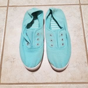 Mint Slip On Sneakers
